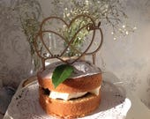 Wedding Cake Topper/Beautiful Heart Entwined Personalised with Amy &  Dan, painted black.