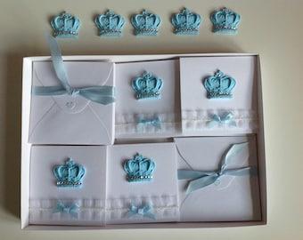 New Baby Shower Invites/Handmade/Boxed Set of 10 Invitations