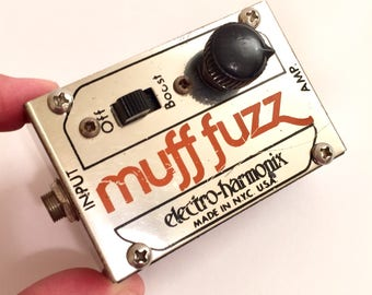 Vintage Electro Harmonix muff fuzz distortion Pedal Guitar Effect early 80s overdrive