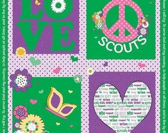 Girl Scouts, Panel, Riley Blake Designs Fabric