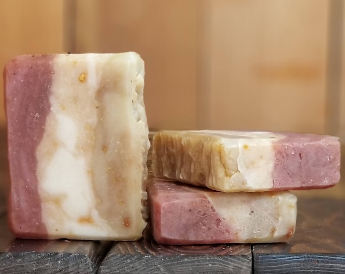 Fight Scrub (Lemongrass Eucalyptus Pumice Soap) --  All Natural, Handmade, Barely Scented, Hot Process, Vegetarian Soap, Free Shipping