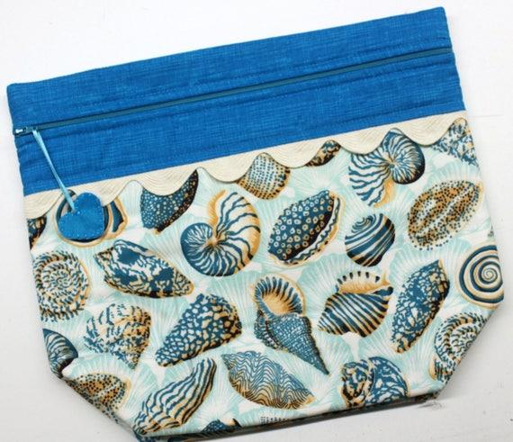 Big Bottom Bag Seashells  Cross Stitch, Sewing, Embroidery Project Bag