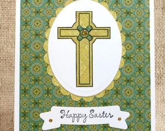 Easter Religious Card- Religious Card- Christian Card- Happy Easter Card- Easter Cross Card- Easter Cards