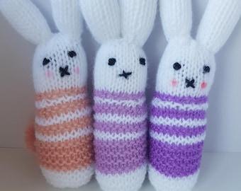 Cute Knitted Rabbit Baby Rattles - Nursery Decor, Gift, Baby Rattle Toys, Soft Baby Rattle, Kids Room Decor, Nursery Decor, Kawaii!