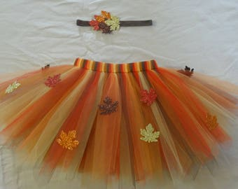 Autumn leaves tutu set any size Newborn-4t, great for thanksgiving outfit