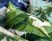 banana leaf lime tropical outdoor cushion