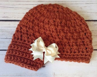 Pumpkin Spice Newsboy, Little Girl Newsboy, Chunky Newsboy, Child Newsboy, Little Girl Brimmed Hat, Chunky Child Hat