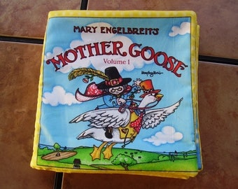 Mother Goose Mary Engelbreits Vol#1 Nursery Rhymes Quiet Soft Cloth Baby Toddler Story Book Handmade Ready to Read
