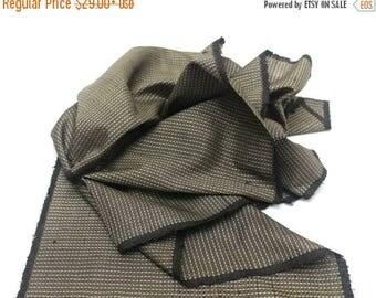 SALE Antique Ooshima Tsumugi Ikat Silk. Japanese Vintage Artisan Fabric. Hand Loomed Textile. Botanical Dye. Brown. (Ref: 1555A)