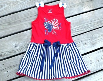 Patriotic Toddler Dress / 4th of July