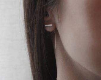 Minimal modern line earrings // SM010
