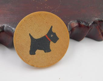 Cute Little Vintage Scottie Dog Pin or Brooch dr64