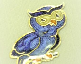 Primer OWL silver metal enameled 32mm