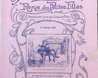 Antic french magazine Revue des petites filles ( journal for littles girls ) - 1905