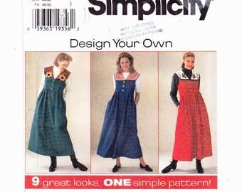 Simplicity 7316 Szs 18-20-22 Dress Design Your Own Detachable collar UNCUT