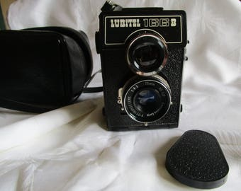 Vintage Lomo Lubitel 166B Medium Format Camera Twin Lens Russian With Case