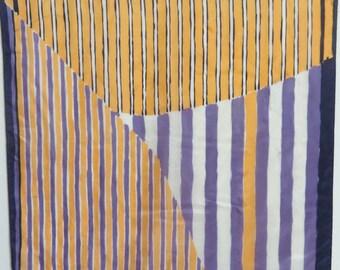 """Vintage Silk Scarf ECHO 27"""" X 27""""  #012"""