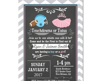 EDITABLE Ties and Tutus Gender Reveal Invitation Instant Download Printable - Ties or Tutus Collection