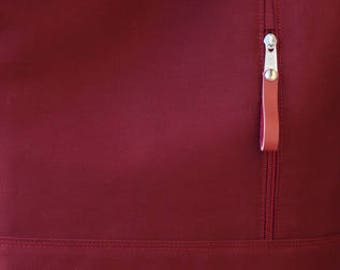 Outside vertical zipper pocket, unique customization your tote bag, choose outside pockets
