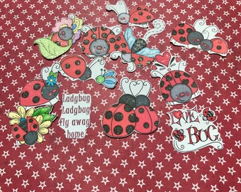 12 large Lady bug decorative planner stickers. Will fit most planners
