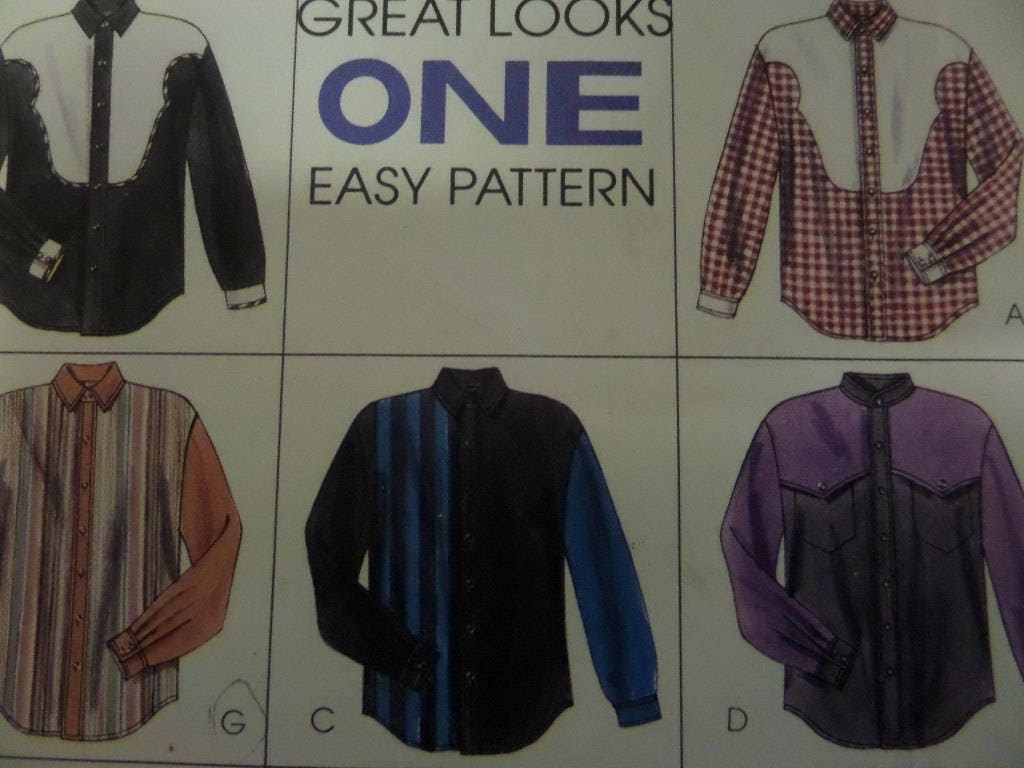 Western shirt pattern mccalls 7416 mens m 38 40 cowboy shirt sold by whilethecatnaps jeuxipadfo Images