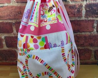 I LOVE Candy! Drawstring Bags