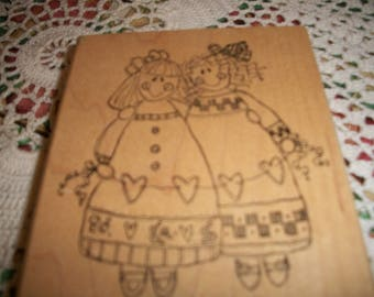 Imaginations Primitive Friends Rubber Stamp