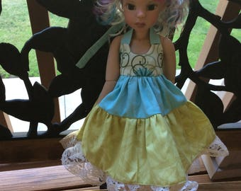 """Tiered dress for 18"""" MSD doll clothes"""