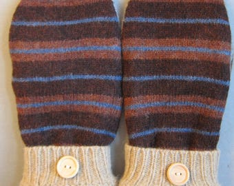 Felted wool sweater mittens, Upcycled wool, Upcycled sweater, OOAK mittens, gifts under 50mittens, Recycled sweater,