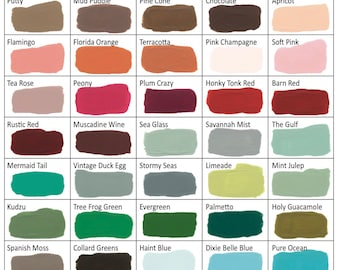 Dixie Belle Mineral Chalk Paint DIY for Furniture, Cabinets - Many Colors, Stains, Waxes, Stencils Available
