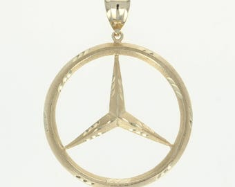 Mercedes jewelry etsy for Mercedes benz pendant