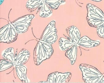 Fabric by the Yard- Charleston -- Wild Nectar by Crystal Manning in Coral