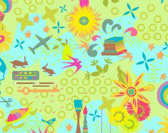 Fabric by the Yard - Remix Favorites in Sunny - by Alison Glass for Andover