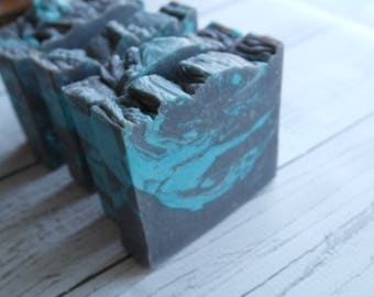 Mystical Woods Goat's Milk Soap with activated charcoal - clean fresh scent