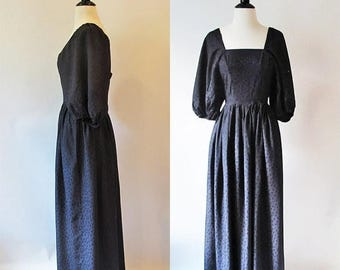 1/2 Off SALE Dinner in Salem Dress, Long Black Dress, Cos play Steam punk Goth Dress