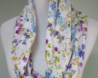 Lovely Floral Infinity Scarf