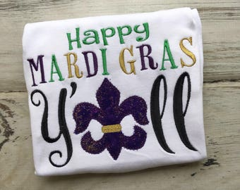Happy Mardi Gras Yall shirt