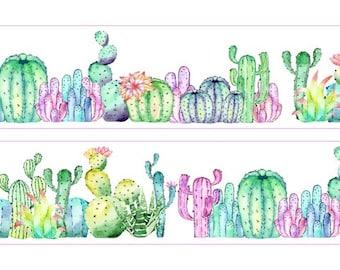 Cactus Plant Washi Tape (30mm X 5M)