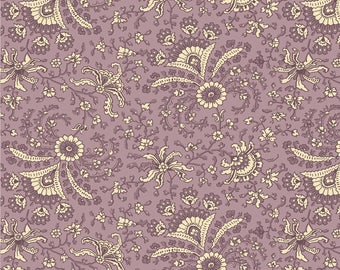 FAB1840-04,26757-PUR1,1840s-1860s, Purple Paisley,Antebellum Period by Sara Morgan for Washington St Studios,Reproduction Fabric by the Yard
