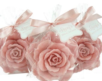 10 Rose Soap Favors -  - Rose Soaps for Weddings and Showers