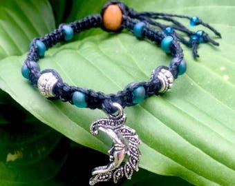 Luna Black Hemp Bracelet