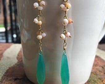 Summer Chalcedony Earrings