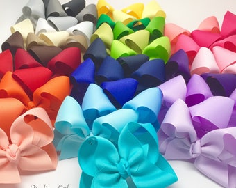 Ultimate Bow Starter Set -- 33 large basic bows -- one of each color -- Darling Little Bow Shop