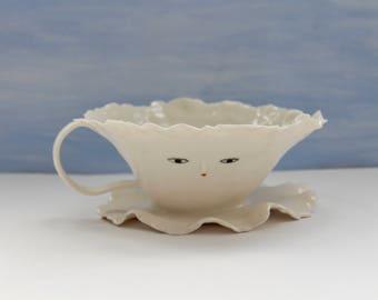 Mother Ballerina Cup Sculpture - Paper porcelain