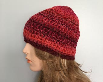 Crochet Beanie Hat - MIXED BERRIES