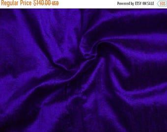 15% off on Wholesale fabric 10 yards of 100 Percent pure dupioni silk in indigo/bargain deal/discounted silk dupioni