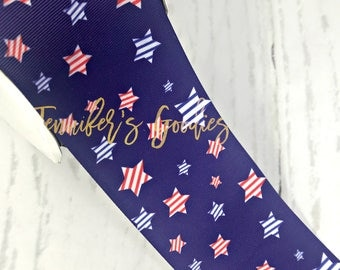 "3"", Patriotic Ribbon, Stars Ribbon, July 4th Ribbon, Holiday Ribbon, Ribbon for Cheer Bows, DIY Cheer Bows, Wholesale Ribbon, PER YARD"