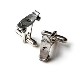 Limited Time Offer Customizable Skateboard Cufflinks - Gifts for Men - Anniversary Gift - Handmade - Gift Box Included