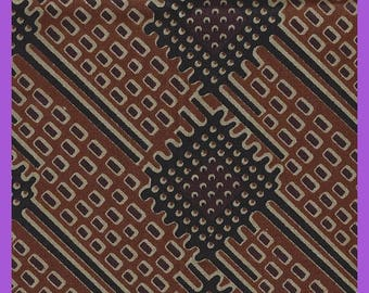 Abstract Fat Quarter Cotton Chintz Fabric Black Brown