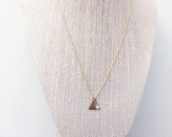 Tiny Triangle Necklace || Swarovski Crystal, Minimalist Jewelry, Dainty Jewelry, Modern Necklace